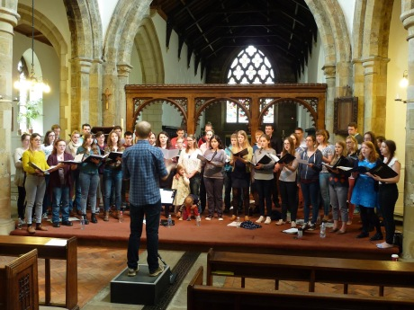 Northern Spirit Singers past and present rehearsing for our 15th Birthday Concert.
